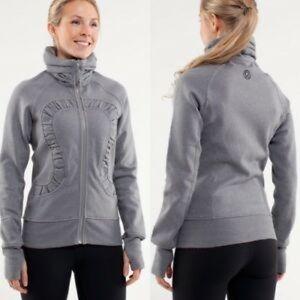 [Lululemon] Heather Blurred Grey Cuddle Up Jacket